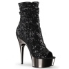 DELIGHT-1008SQ Black Sequin/Chrome